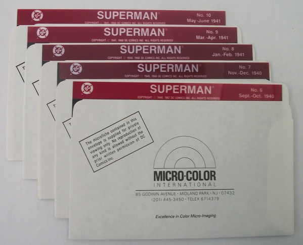 Micro-Color DC's Superman - Issues 6 - 10 on Microfiche - 034DC