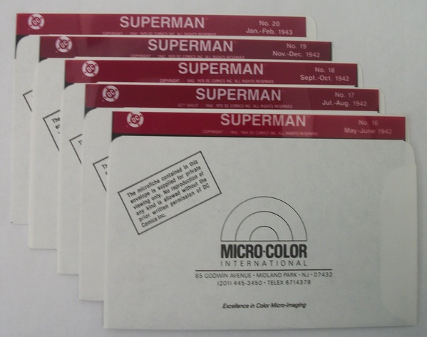 Micro-Color DC's Superman - Issues 16 - 20 on Microfiche - 036DC