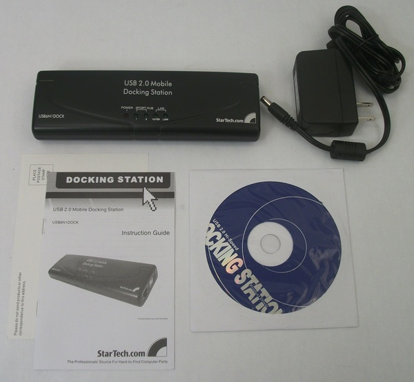 Startech USB 2 Mobile Docking Station w/ Power Cable & Driver Disc - USB6N1DOCK