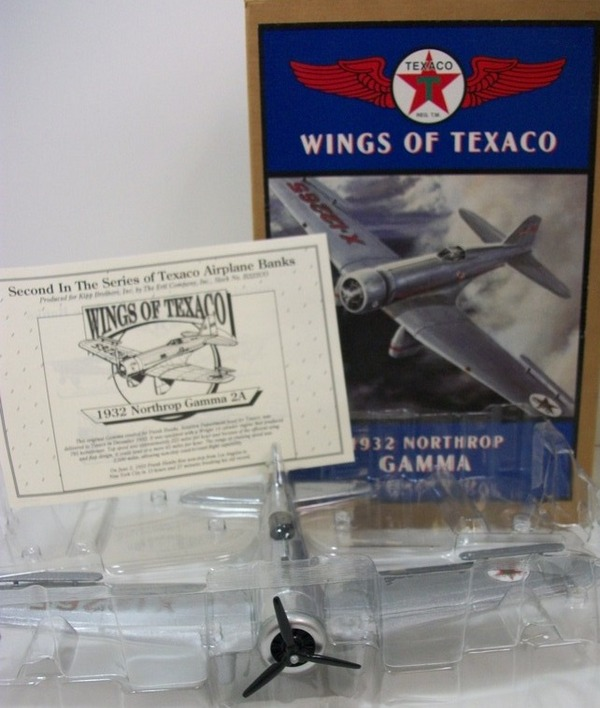 Wings of Texaco 1932 Northrop Gamma Coin Bank