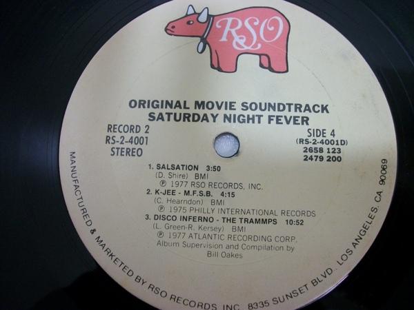 Original Movie Soundtrack Saturday Night Fever Record,  33LP