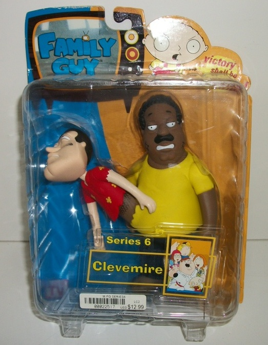 Family Guy Series 6 Clevemire Action Figure Damaged Package