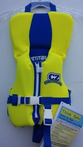 Competition Zone Neoprene Life Vest Jacket size Infant USCG APPROVED 9300-7486