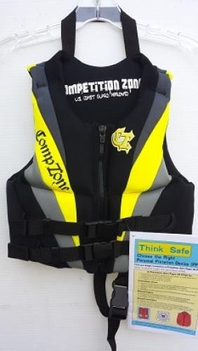 Competition Zone Neoprene Life Vest Jacket size Child USCG Approved 9301-7479