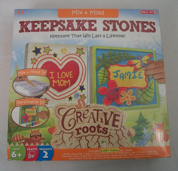 NEW Creative Roots Mix & Mold Keepsake Stones DIY Target Exclusive