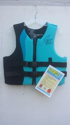 Competition Zone Neoprene Life Vest Jacket size XS USCG Approved 9861-5206