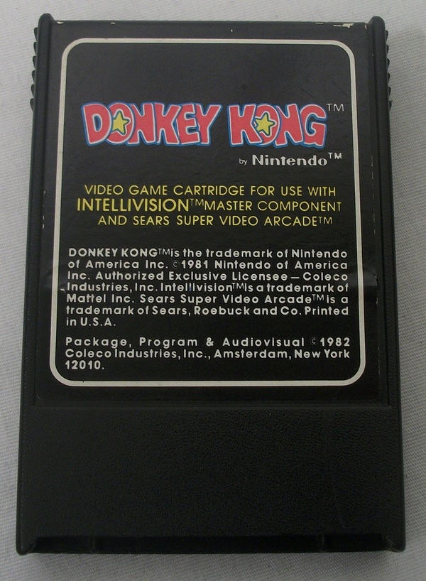 Nintendo's Donkey Kong for Intellivision - Cartridge Only - 1982