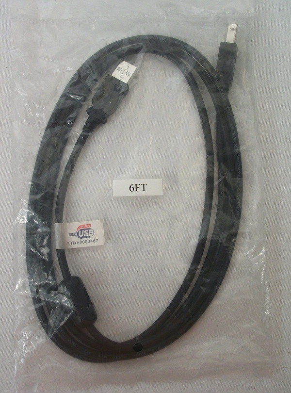 USB A to B (m/m) 6' Cable with Ferrite Core