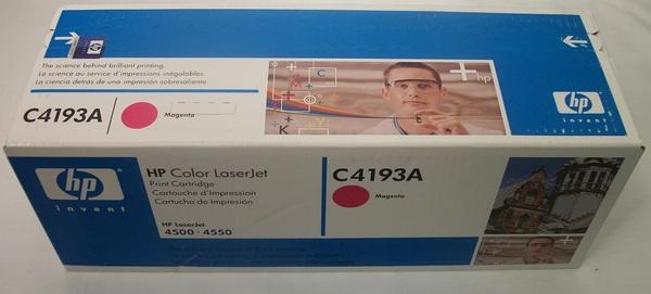 New in Box HP Color Laserjet Print Cartridge Megenta C4193A