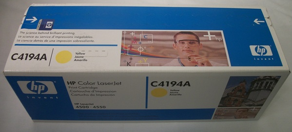 New in Box HP Color Laserjet Print Cartridge Yellow C4194A
