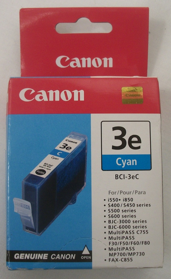 New in Box Cannon Cyan Ink Tank Model BCI-3eC