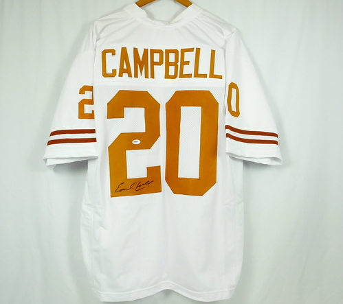 brand new ecb03 10f44 Details about Earl Campbell Texas Longhorns Autographed Jersey PSA DNA COA