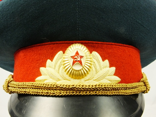 f1bbfdf57 Details about USSR Soviet Army Officers of Internal Forces of Soviet Union  Parade Visor Hat