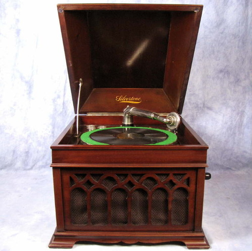 Antique/Vtg Silvertone Hand-Crank Phonograph Tabletop ...
