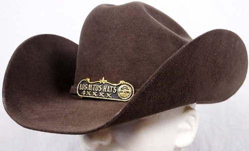 Los Altos Hats 4X XXXX Beaver Felt Cowboy Western Texana Cafe Brown 7 3 8  NEW 93976b3ad40