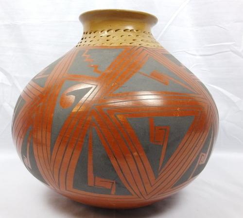 Vintage Mata Ortiz Polychrome Pottery Vesselvase Signed Genoveva