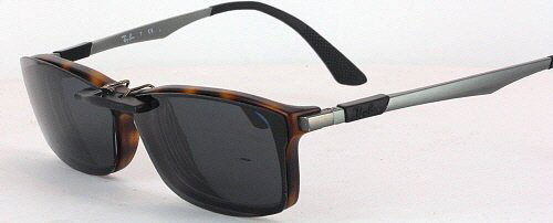 f39a4464e9d Custom Fit Polarized CLIP-ON Sunglasses For Ray-Ban RB7017 54x17 ...