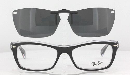 19f2645c4ea Custom Fit Polarized CLIP-ON Sunglasses For Ray-Ban 5255 53x16 ...
