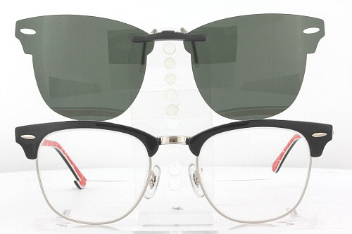 3343b37d361 Details about Custom Fit Polarized CLIP-ON Sunglasses For Ray-Ban  CLUBMASTER 3016 51x21 RB3016