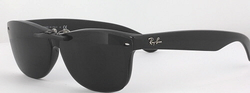 cabb17676a Custom Fit Polarized CLIP-ON Sunglasses For Ray-Ban 2132 55x18 New Wayfarer