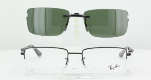 fc1d539d3ec0 Custom Fit Polarized CLIP-ON Sunglasses For RAY-BAN RB6285-53X18 Rayban 6285