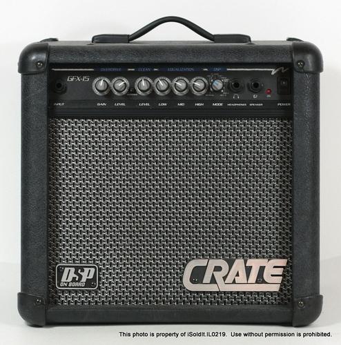 crate gfx15 guitar amp amplifier 12 watts 4 ohms. Black Bedroom Furniture Sets. Home Design Ideas
