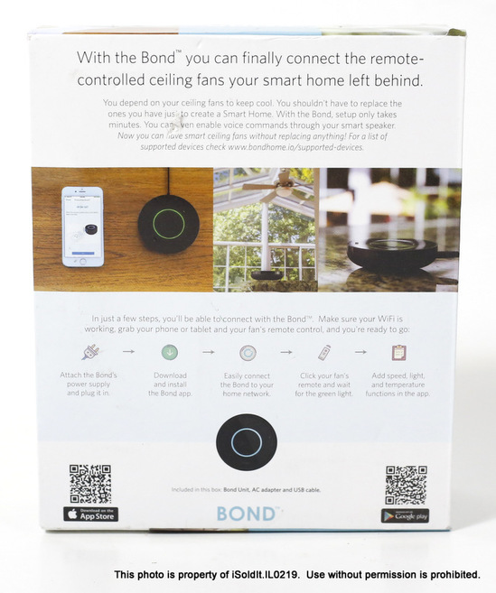 Details about NEW BOND Smart Home Automation BD-1000 WiFi Ceiling Fan Device