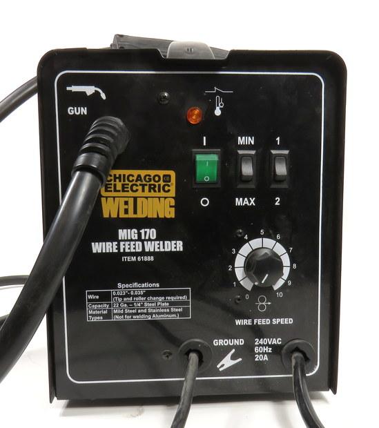 CHICAGO ELECTRIC MIG / FLUX 170 AMP WIRE FEED WELDER SYSTEM 61888 240 VOLT    eBay