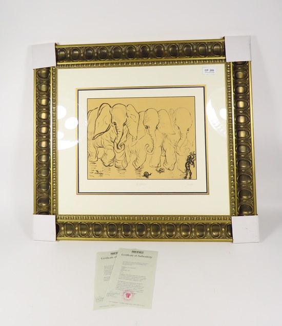 "SALVADOR DALI /& WALT DISNEY /""DESTINO/"" Signed Limited Edition Art Serigraph 27"