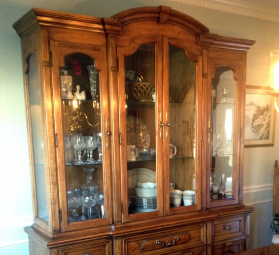 Dining Room Set With China Cabinet: THOMASVILLE DINING ROOM TABLE And 6 CHAIRS W/ 2 PIECE