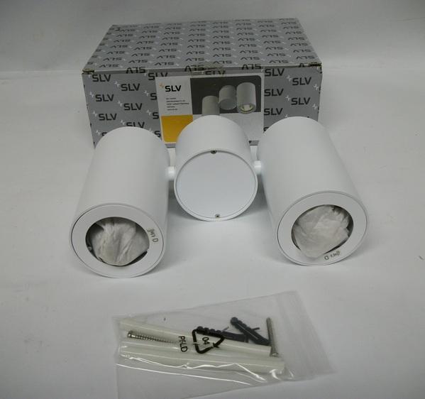 SLV 8151824U Enola B Spot 1 Wall Ceiling Light Flush Mount Silver /& Grey Finish