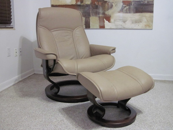 Ekornes Stressless Recliner Chair Leather Modern Large