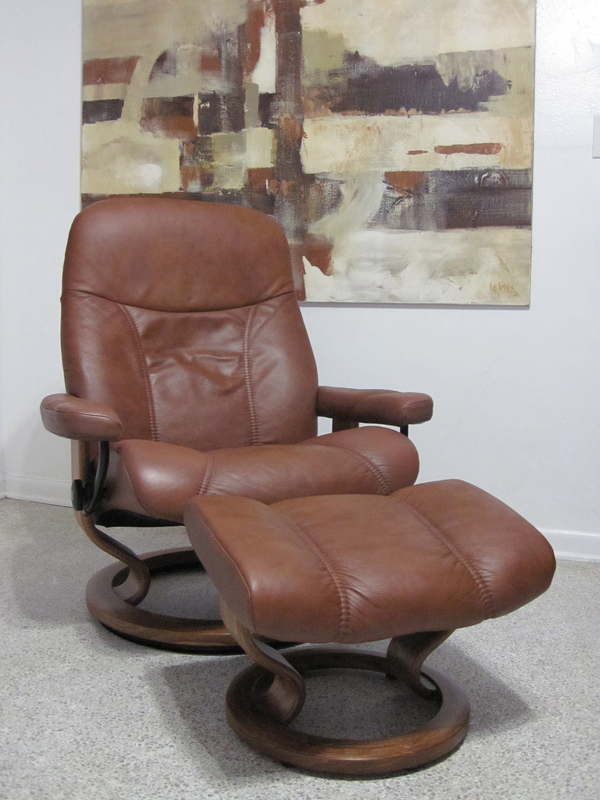 Buy This Used Ekornes Stressless Recliner Chair Leather