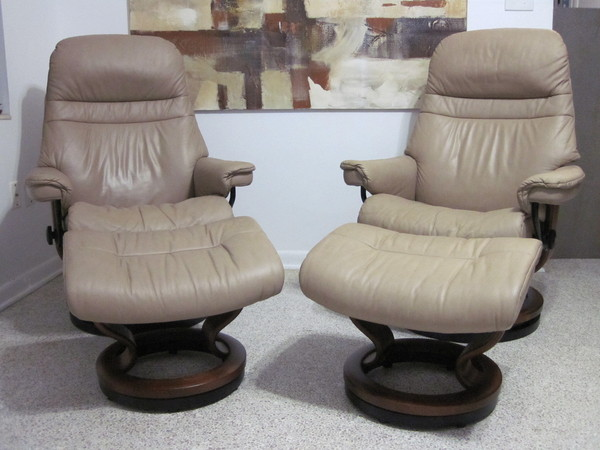 Ekornes Stressless Recliner Chair Leather Modern Sunrise