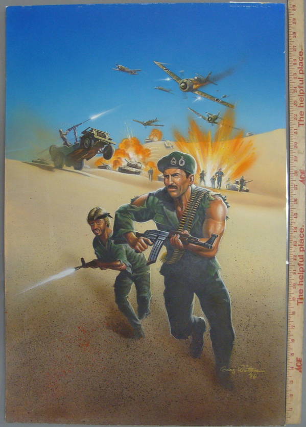 WWII Battle of El Alamein Original Movie Poster Cover Art Painting Signed 1986