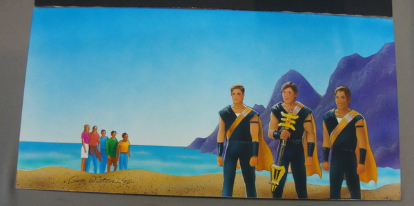 Original Graphic Art Power Rangers Gold Ranger & Triforia Signed Painting