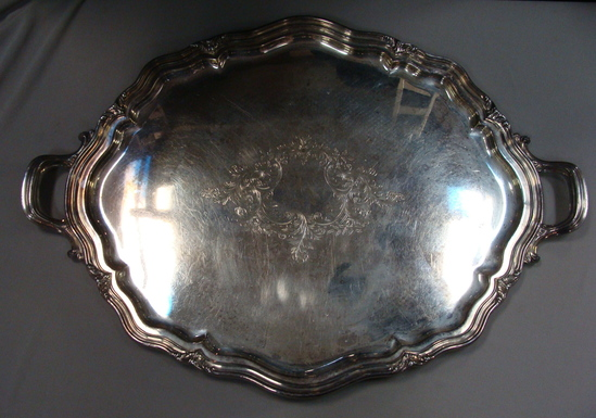 Large Antique Reed & Barton EPNS  Serving Tray 29