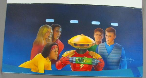 Original Power Rangers Graphic Novel Art Alpha 5 Robot Signed Painting