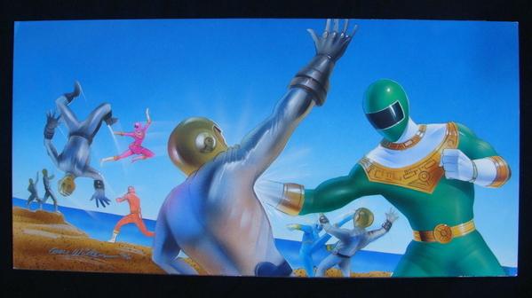 Power Rangers Triumph of the Gold Ranger Sci-Fi Original Comic Book Art SIGNED