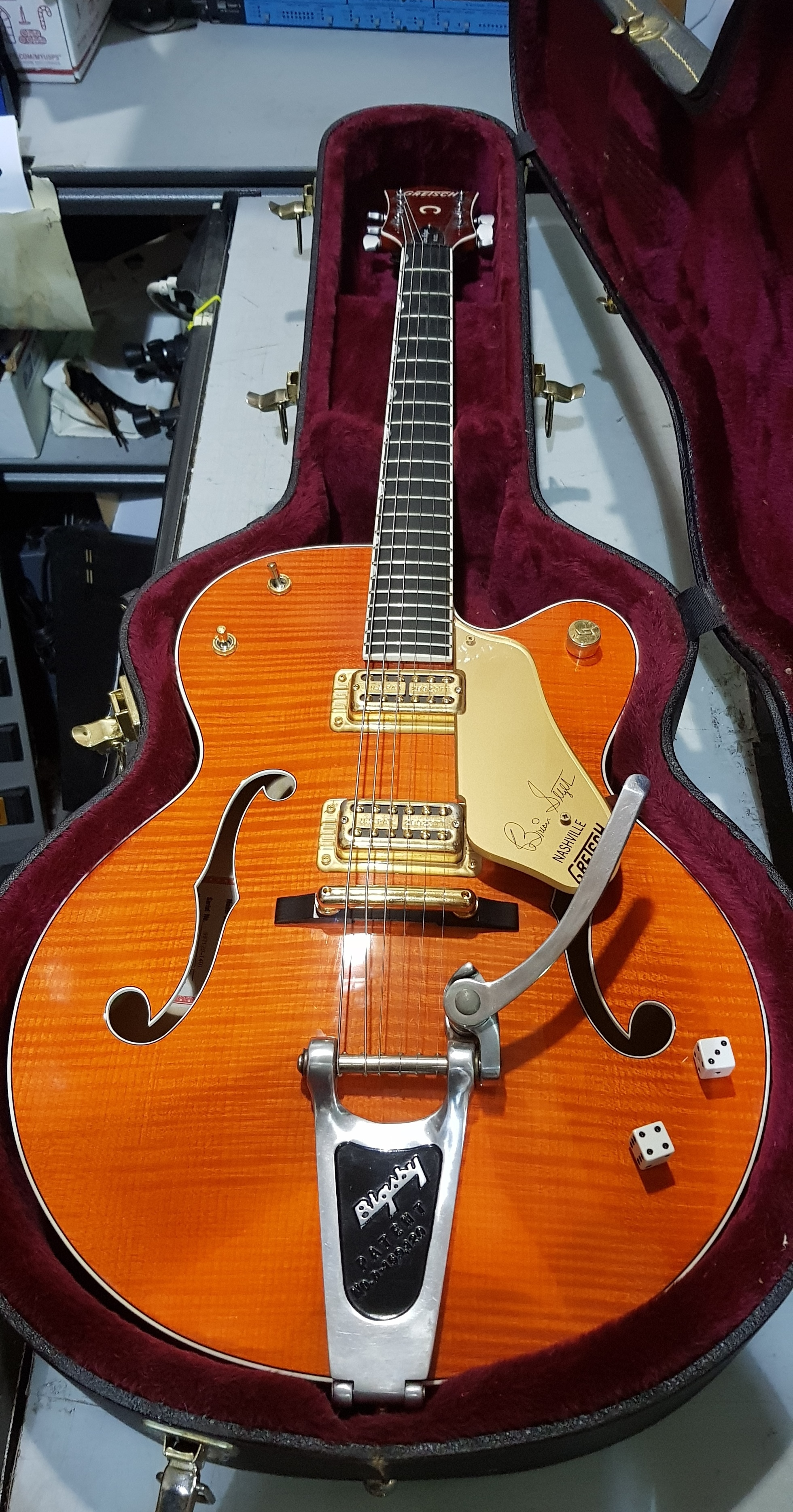 GRETSCH 6120-SSU Brian Setzer Signature Nashville Electric Guitar HSC