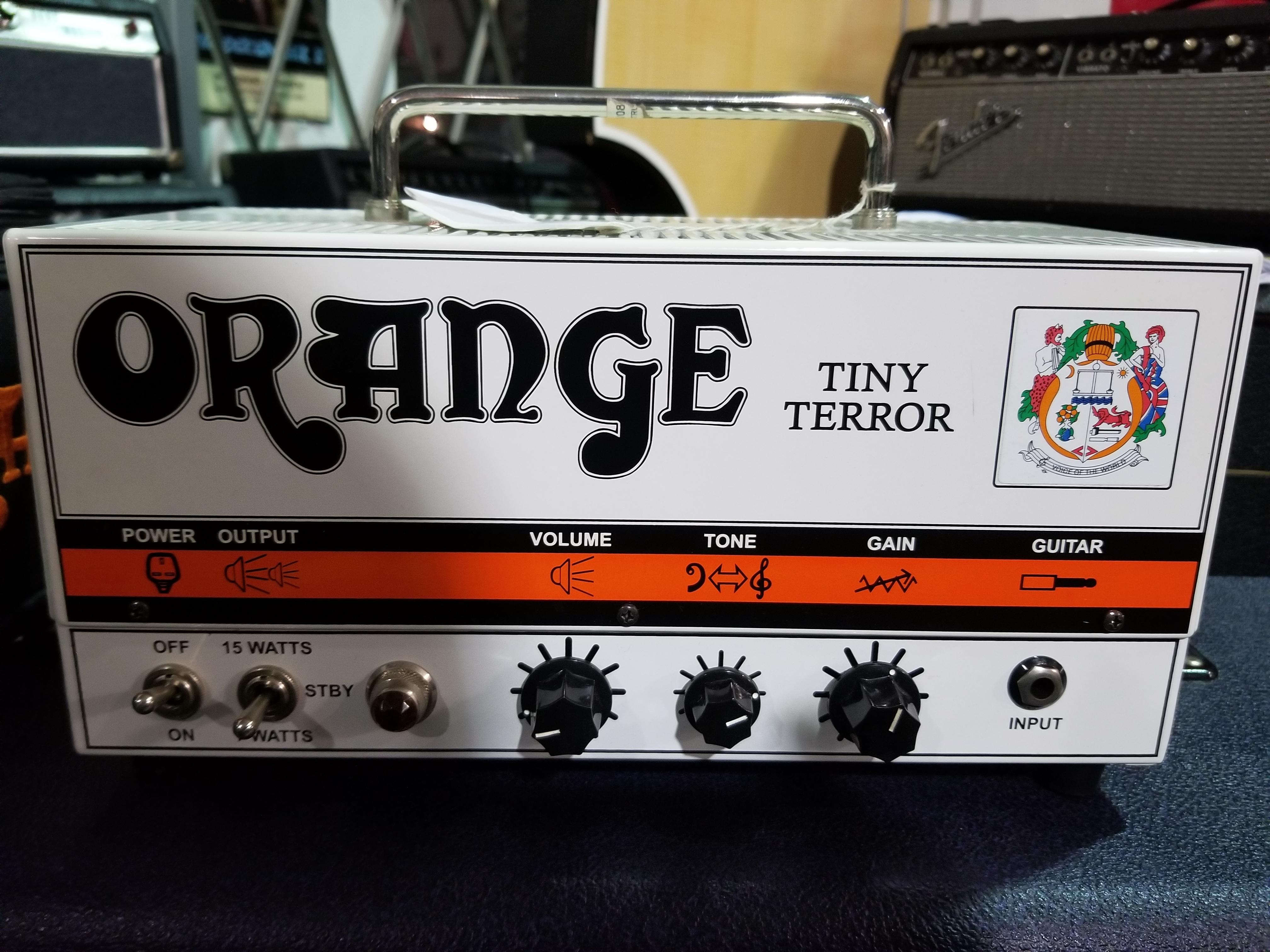 ORANGE Tiny Terror TT15H 7/15-Watt Tube Mini Guitar Amp Head w/ Gig-bag