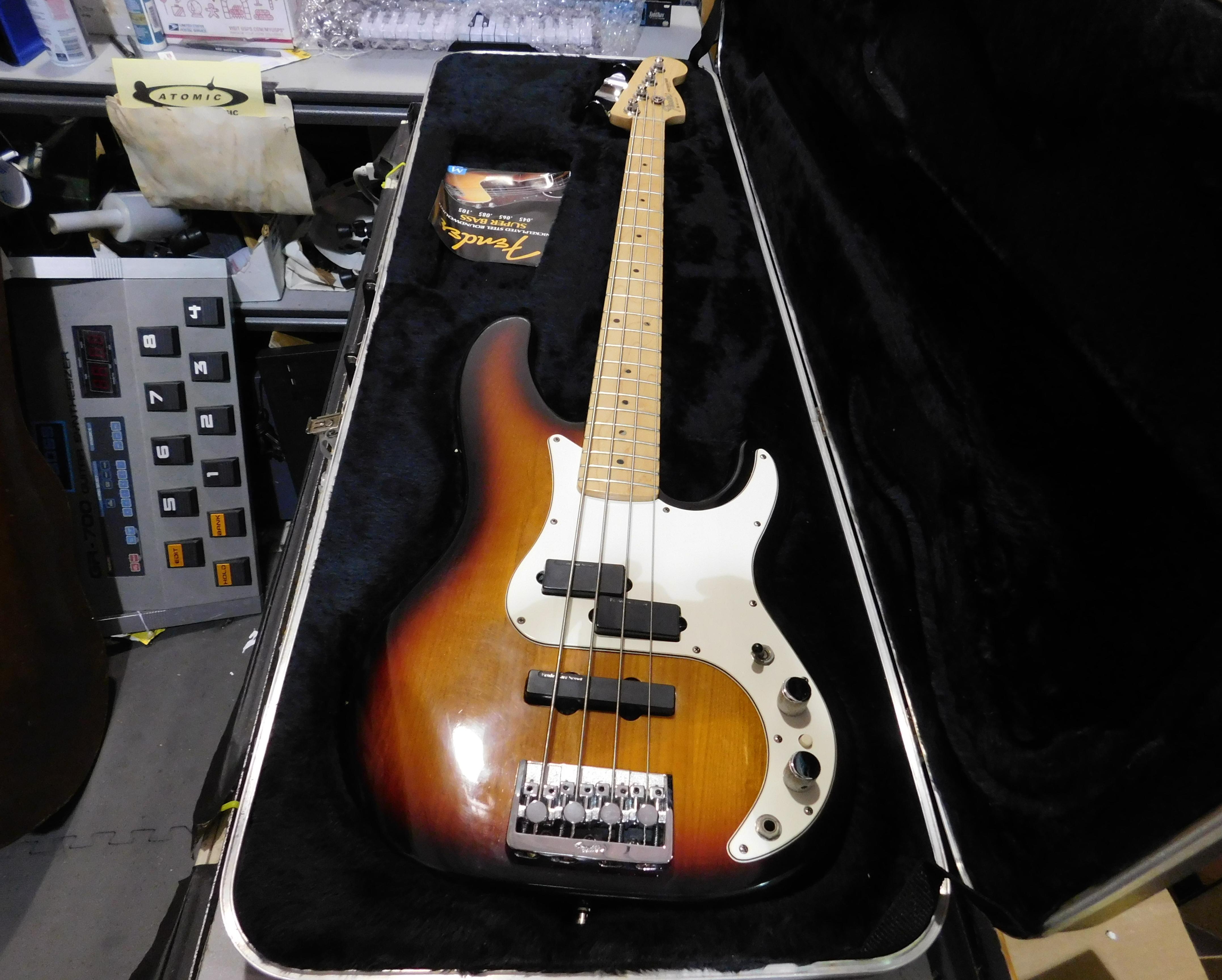 1992 FENDER Precision Bass Plus Electric Bass HSC Sunburst