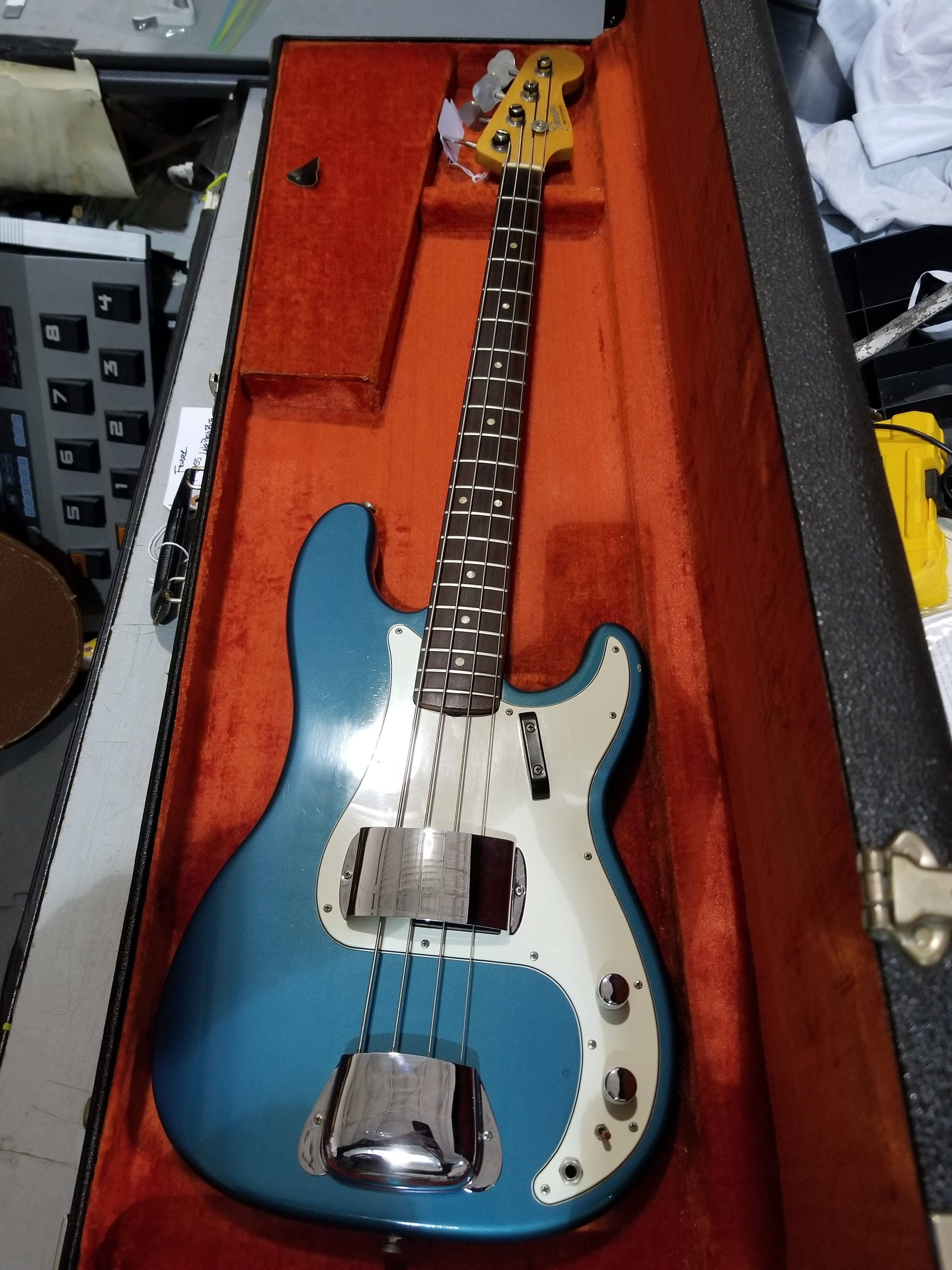 1966 FENDER Precision Bass Electric Bass Lake Placid Blue HSC Local Pickup Only!