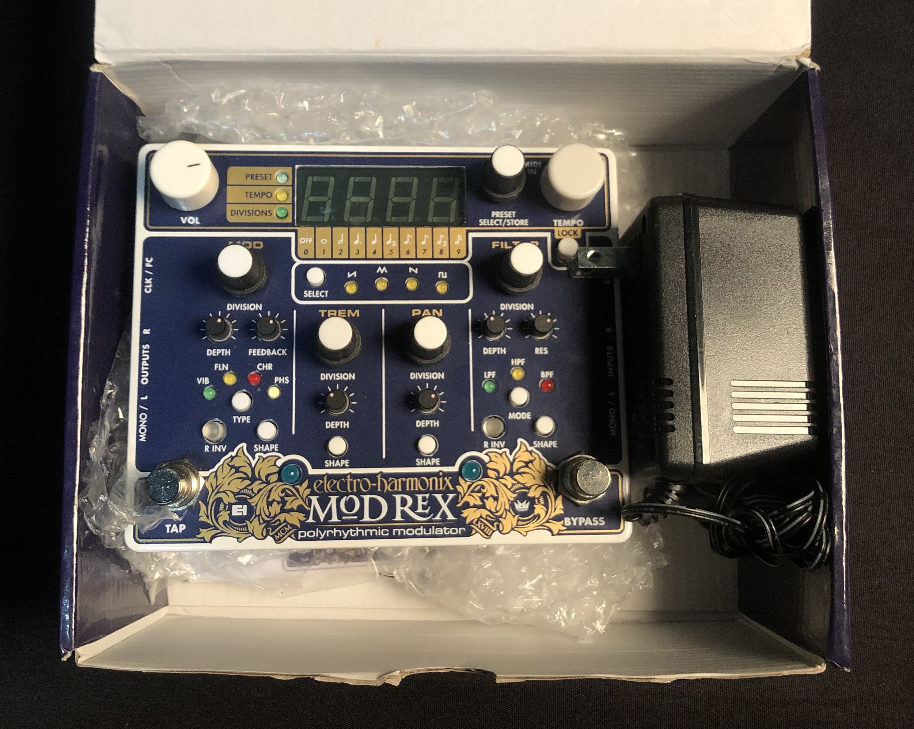 ELECTRO-HARMONIX - Mod Rex Polyrhythmic Modulator Pedal