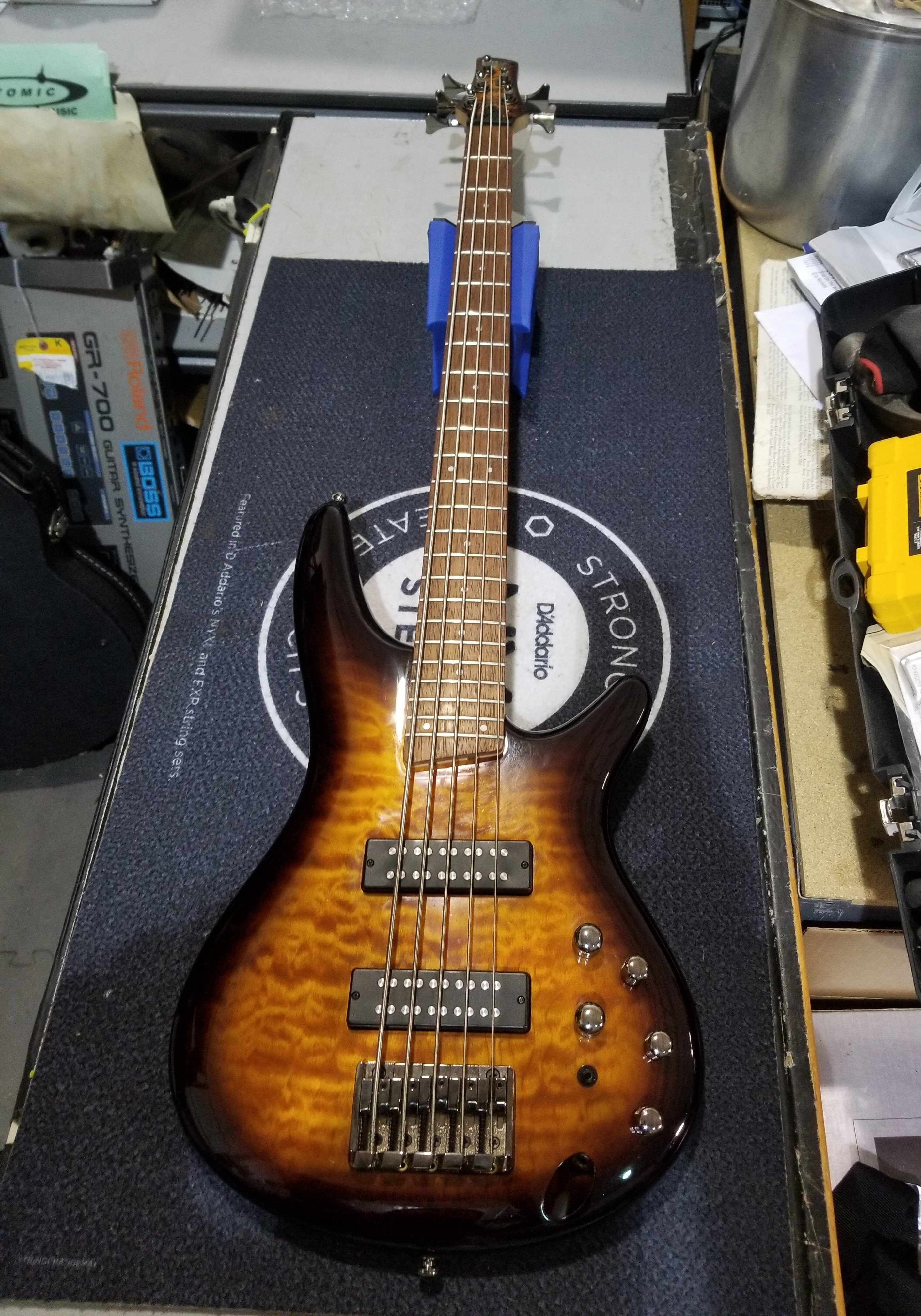 IBANEZ SR405EQM 5-String Electric Bass Dragon Eye Burst + Gig-bag