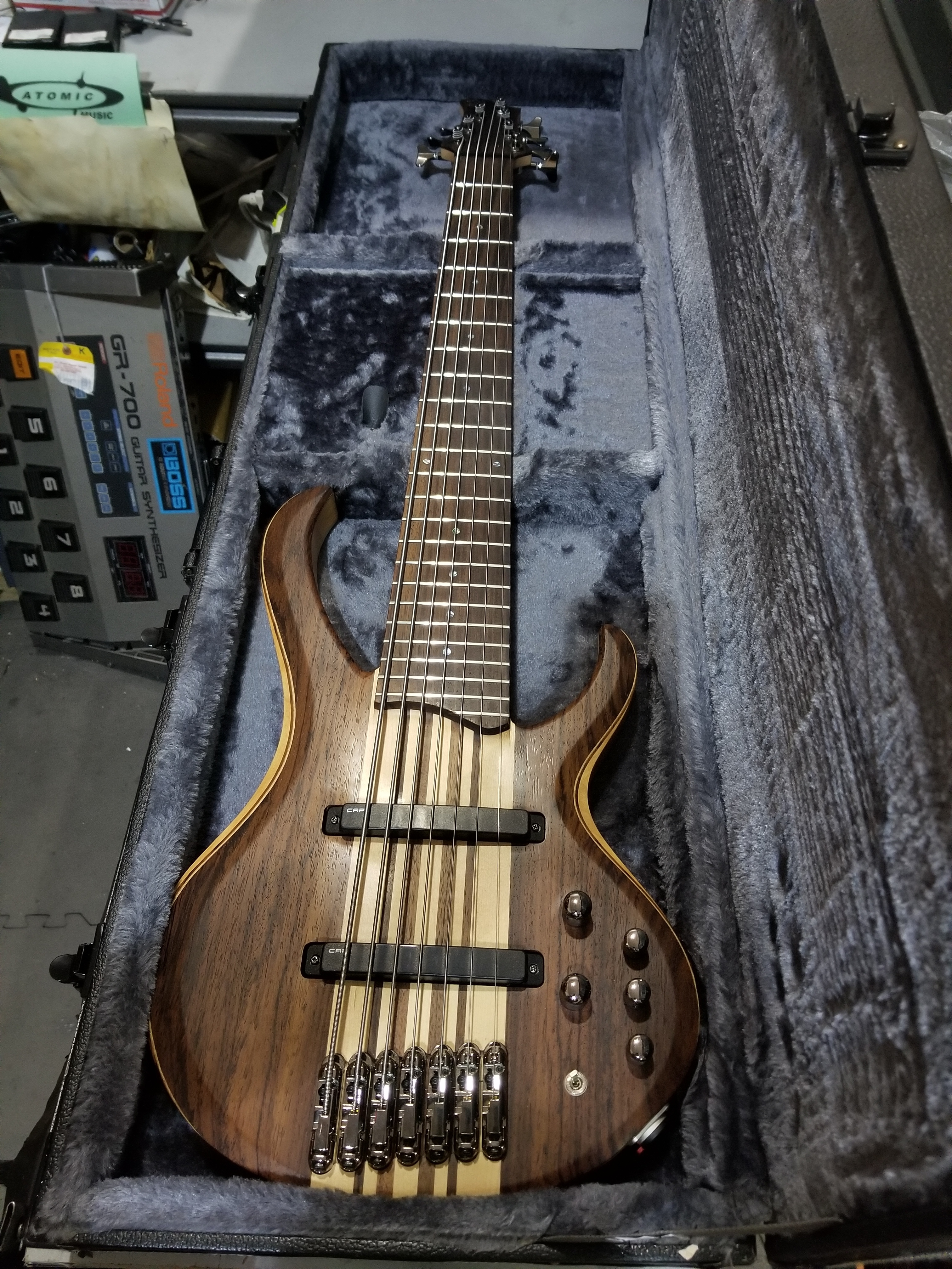 IBANEZ BTB7E 7-String Electric Bass HSC Natural Flat