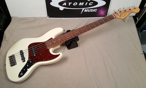 39 95 fender usa american jazz bass v 5 string j bass w aguilar pickups ebay. Black Bedroom Furniture Sets. Home Design Ideas
