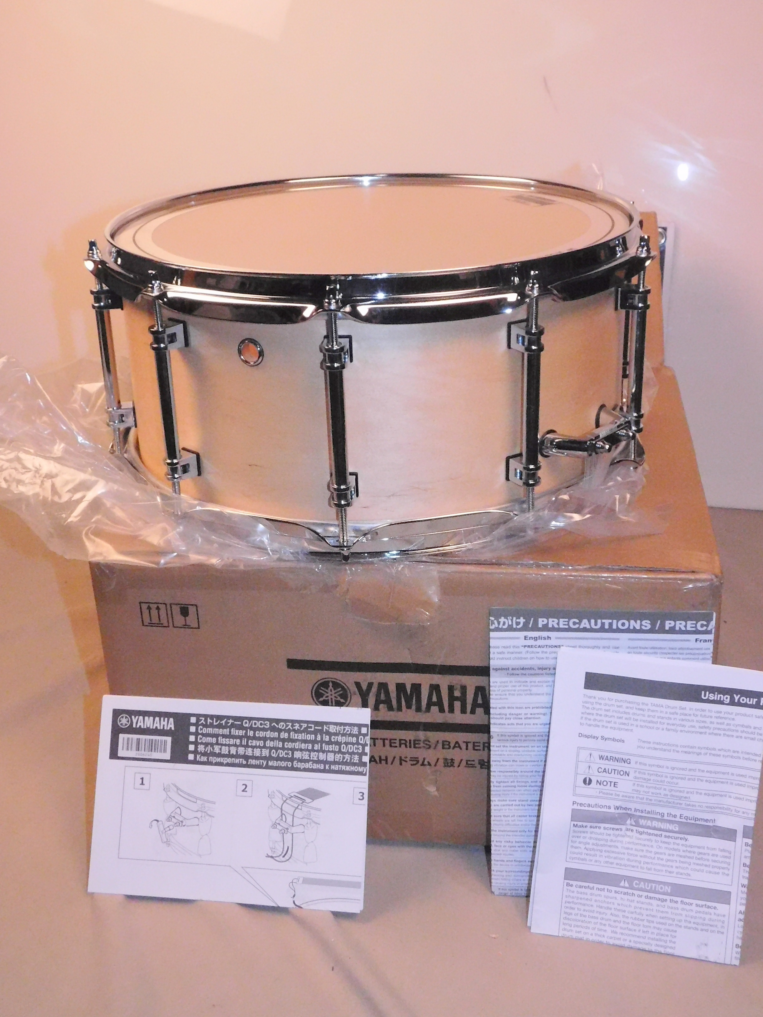 YAMAHA CONCERT SNARE - VERY FRESH CONDITION Maple Snare Drum- IN ORIGINAL BOX!!!