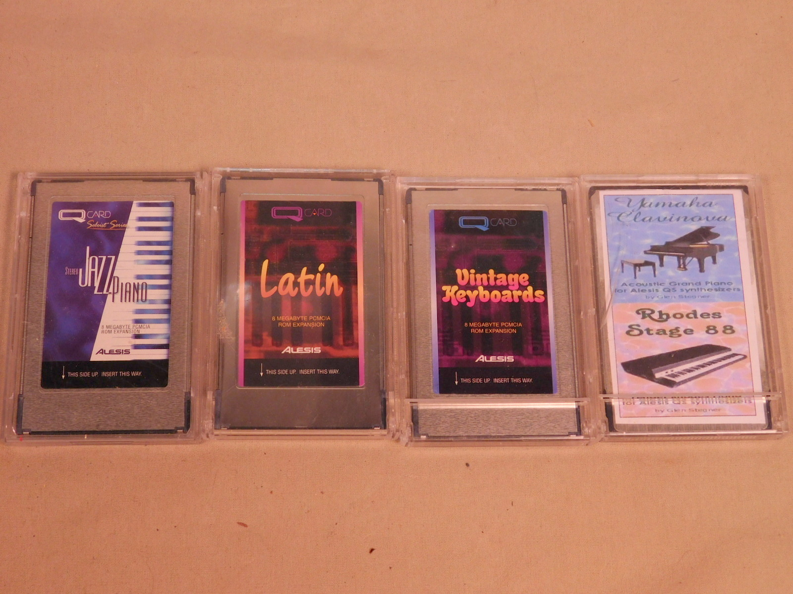 4 Q-CARDS - VINTAGE KEYS, LATIN, STEREO JAZZ PIANO, YAMAHA CLAV/RHODES STAGE 88