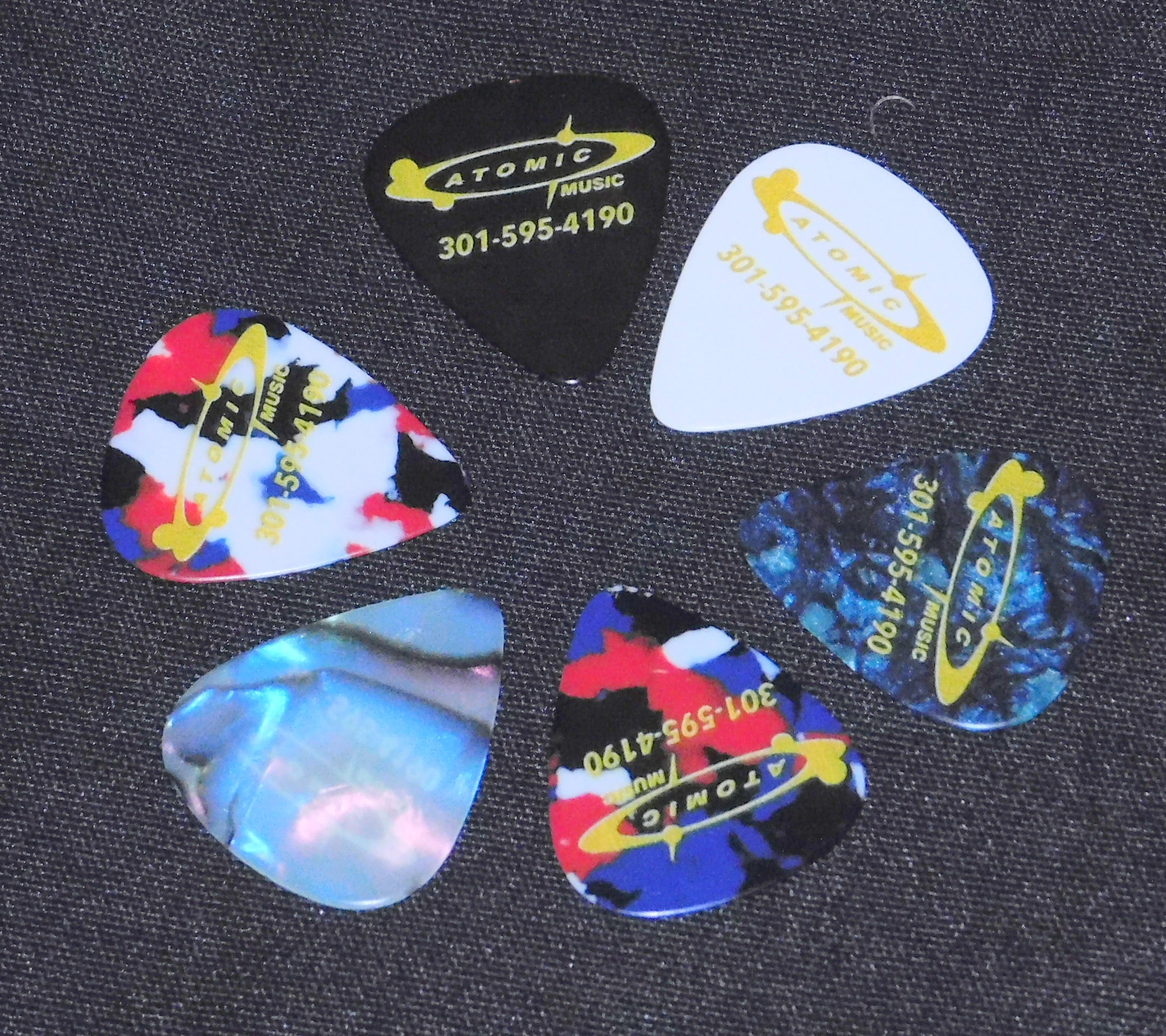 6 Atomic Music MEDIUM Guitar Picks